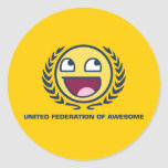 United Federation of Awesome Round Stickers