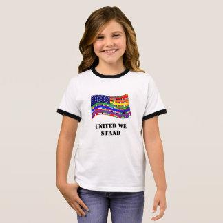 United Flag Girl's Ringer T-Shirt