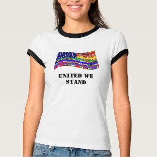 United Flag Women's Ringer T-Shirt