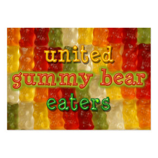 united gummy bear eaters large business cards (Pack of 100)