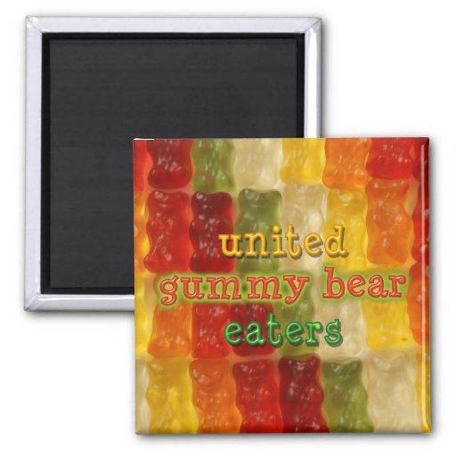 united gummy bear eaters fridge magnets