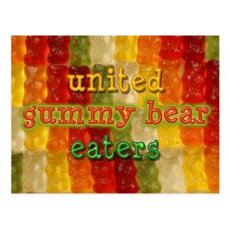 united gummy bear eaters postcard