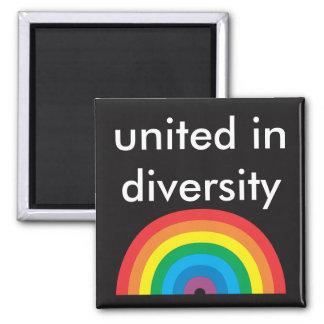 united in diversity square magnet