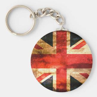 United Kingdom Basic Round Button Keychain