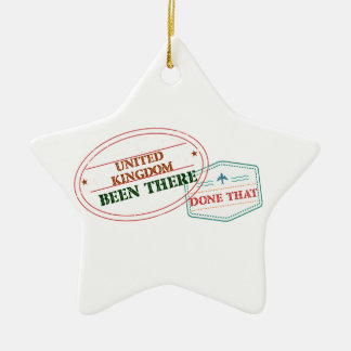 United Kingdom Been There Done That Ceramic Ornament
