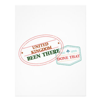 United Kingdom Been There Done That Letterhead