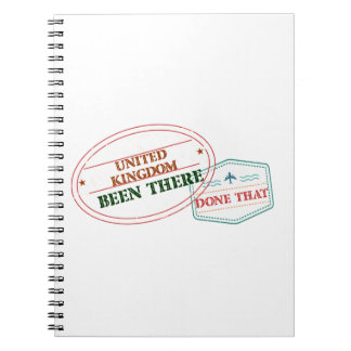 United Kingdom Been There Done That Notebook