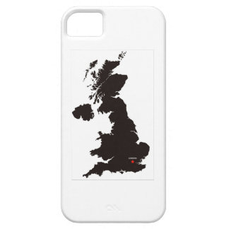 united kingdom black map great britain country iPhone 5 cases