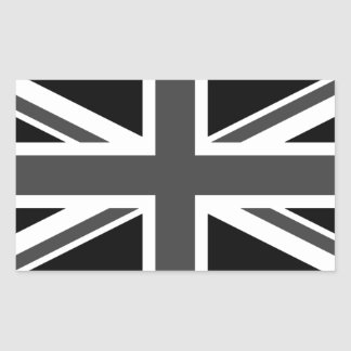 United Kingdom: Black Union Jack Sticker