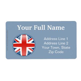United Kingdom Bubble Flag Shipping Label