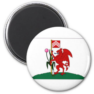 United Kingdom Cardiff Flag 2 Inch Round Magnet