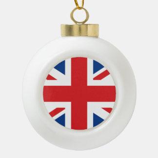 United Kingdom Ceramic Ball Ornament