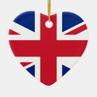 united kingdom ceramic heart ornament