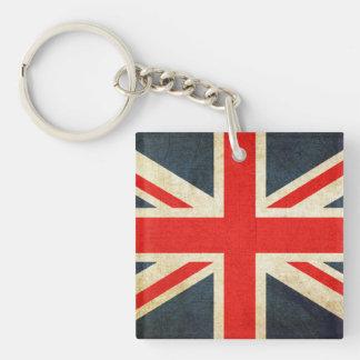 United Kingdom Double-Sided Square Acrylic Keychain
