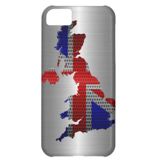 United Kingdom Flag and Map Steel Metal Hole iPhone 5C Covers