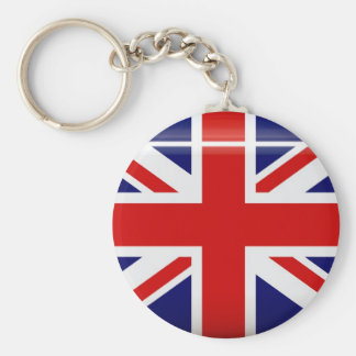 United Kingdom Flag  Button Keychain