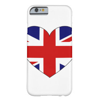 United Kingdom Flag Heart Barely There iPhone 6 Case