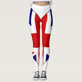 United Kingdom Flag Heart Leggings