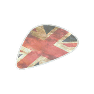 United kingdom flag pearl celluloid guitar pick