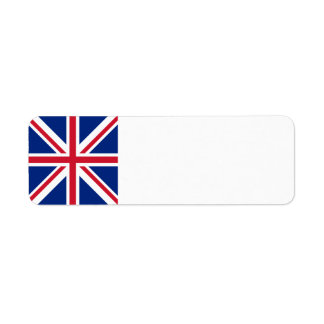 United Kingdom Flag Return Address Label