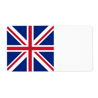 United Kingdom Flag Shipping Label
