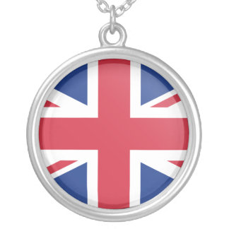 United Kingdom Flag Silver Plated Necklace
