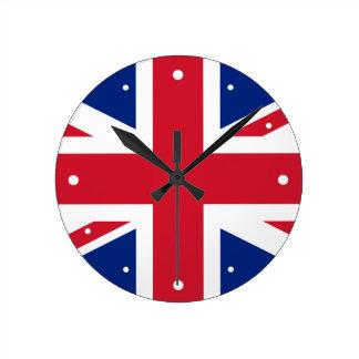 United Kingdom Flag Union Jack Round Clock