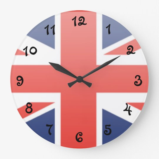 United Kingdom Flag Wallclock