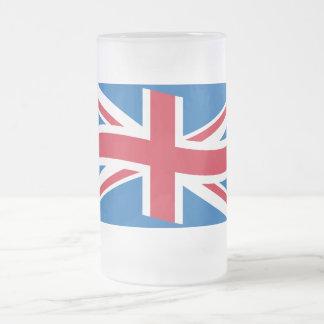 United kingdom frosted glass beer mug