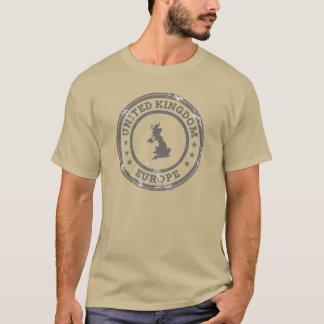 United Kingdom Gray Travel Stamp T-Shirt
