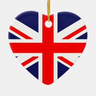 United Kingdom Great Britain UK national flag Ceramic Ornament