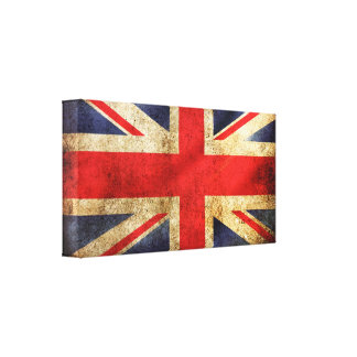 United Kingdom Grunge Flag Canvas Print