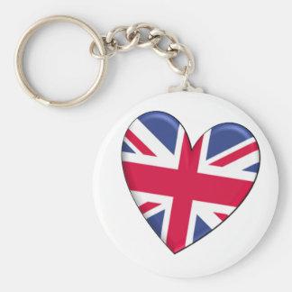 United Kingdom Heart Flag Keychain