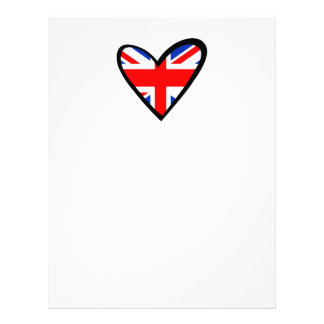 United Kingdom Heart Flag Letterhead