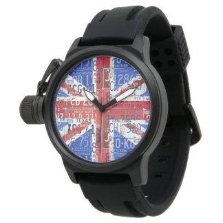 United Kingdom License Plate Flag Art Watch
