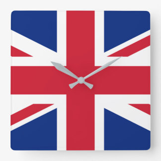 United Kingdom National World Flag Square Wall Clock