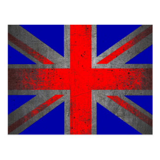 United Kingdom neon grunge flag postcards