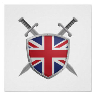 United Kingdom or Great Britain shield poster Perfect Poster