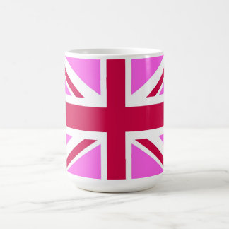 united kingdom pink flag gay proud great britain coffee mug