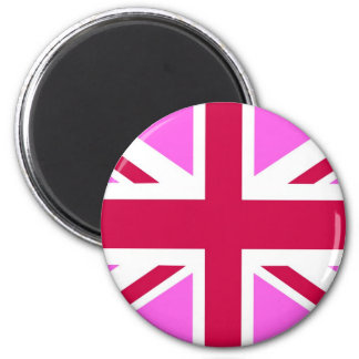 united kingdom pink flag gay proud great britain magnet