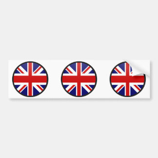 United Kingdom quality Flag Circle Bumper Sticker