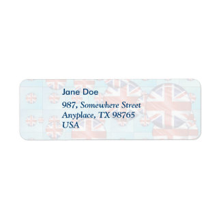 United Kingdom Return Address Label