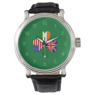 United Kingdom Shamrock Watch