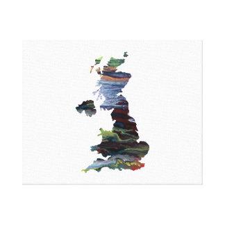 united kingdom silhouette canvas print