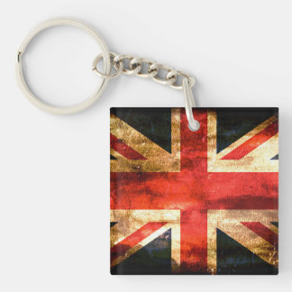 United Kingdom Single-Sided Square Acrylic Keychain