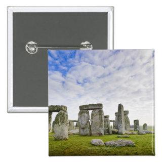 United Kingdom, Stonehenge 2 Inch Square Button