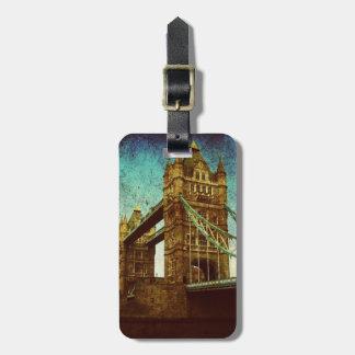 united kingdom thames river london tower bridge luggage tag