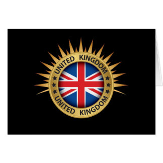 United Kingdom Thank You or Blank Note Card