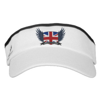 United Kingdom U.K. Flag Shield Sun Visor Hat