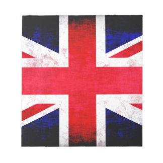 United Kingdom UK Flag Grunge Old Design Notepads